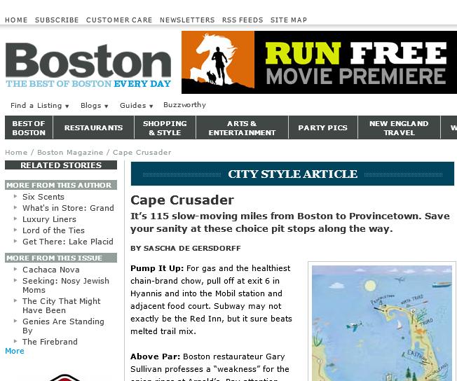 "Boston Magazine ""Cape Crusader"""
