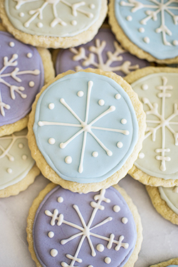 snowflake icing sugar cookies