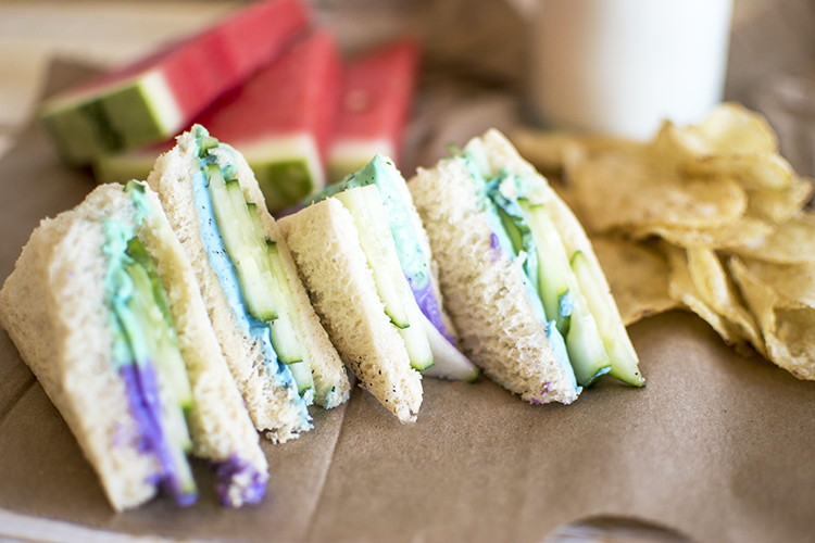 Colorful Cream Cheese Sandwich Back to School