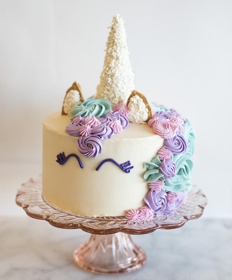 All natural colored Unicorn Cake