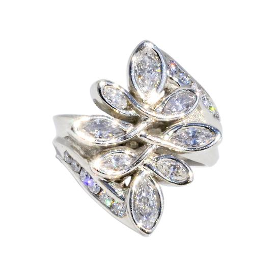 14k White Gold Ring with 2.5cttw Diamonds by Waylon Rhoads Jewelry