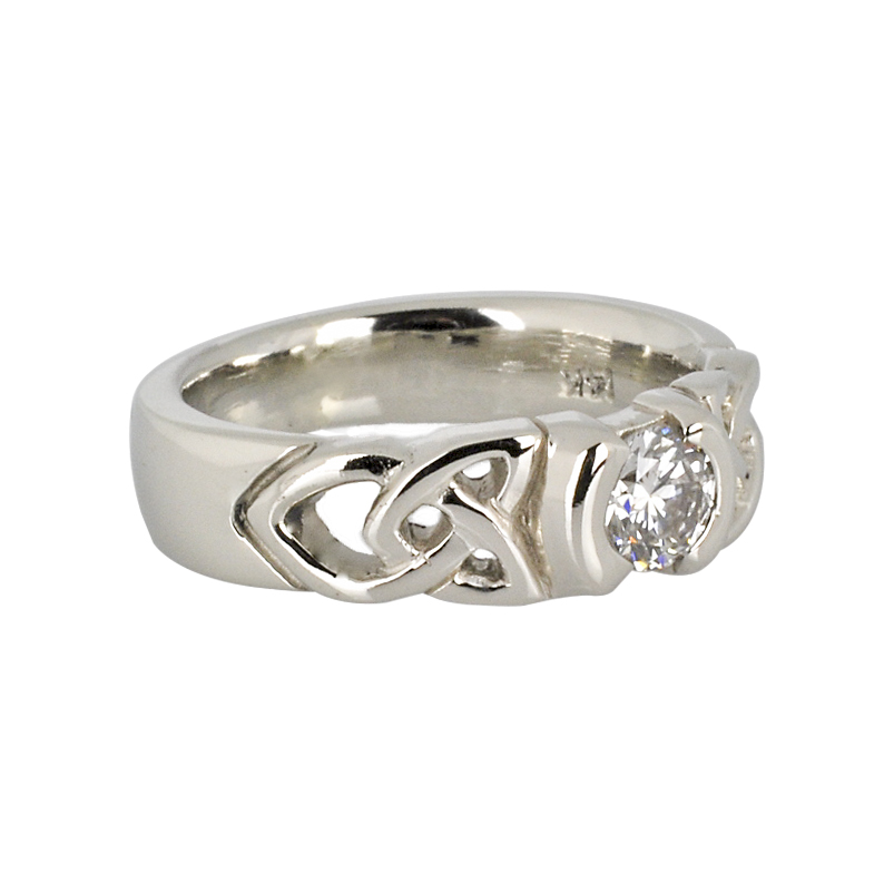 14K White Gold Ring with .51ct Diamond
