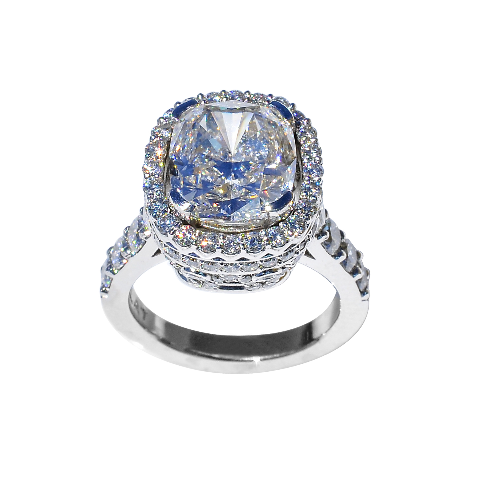 "Platinum and Diamond ""Queen of Light"" Ring by Waylon Rhoads Jewelry"