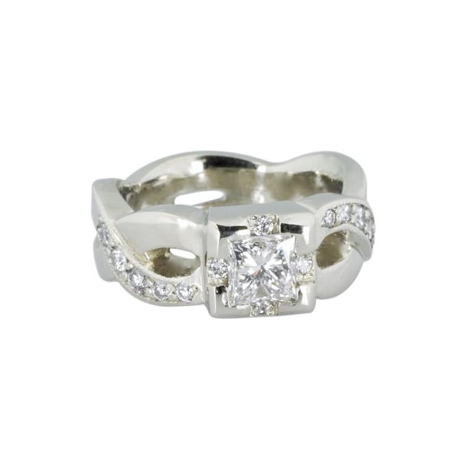 14kw gold Wedding Ring with Diamonds by Waylon Rhoads Jewelry