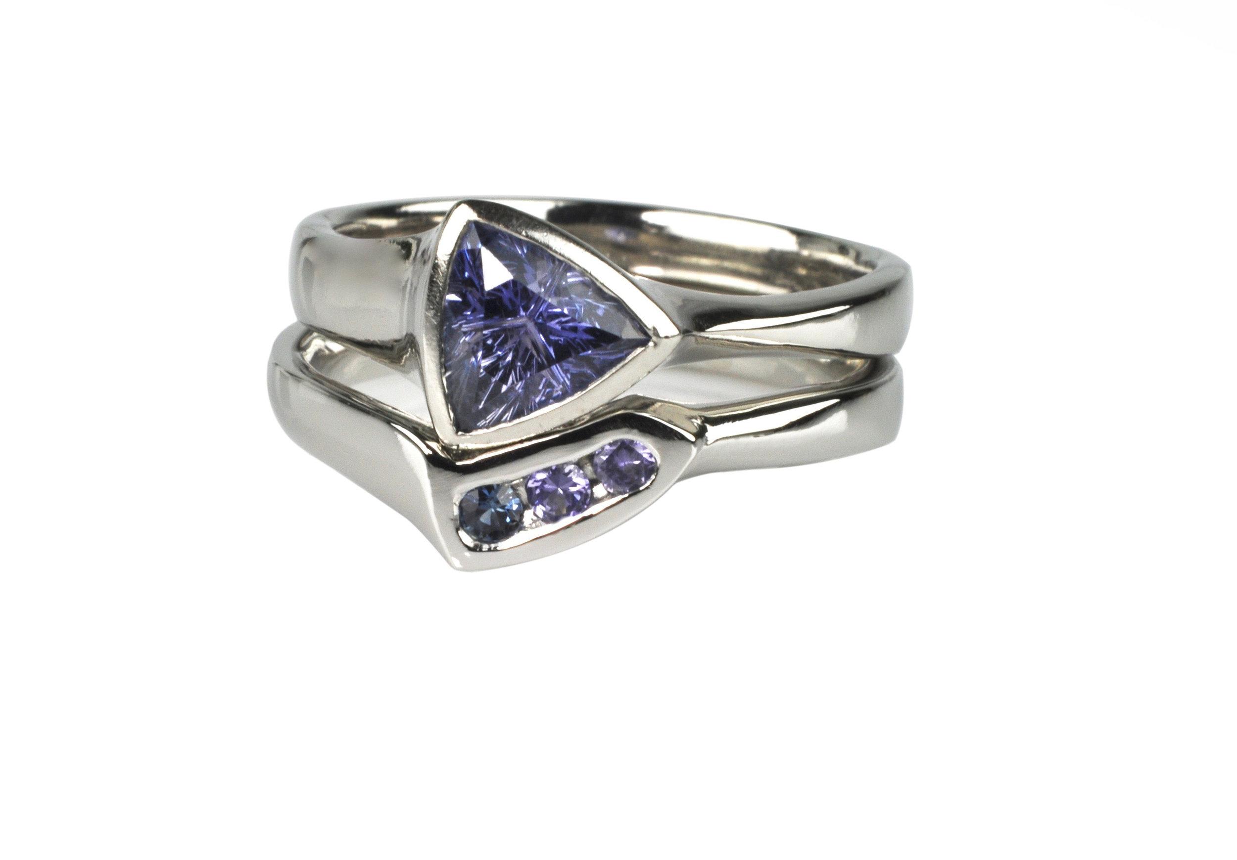 Platinum Sapphire Engagement Ring