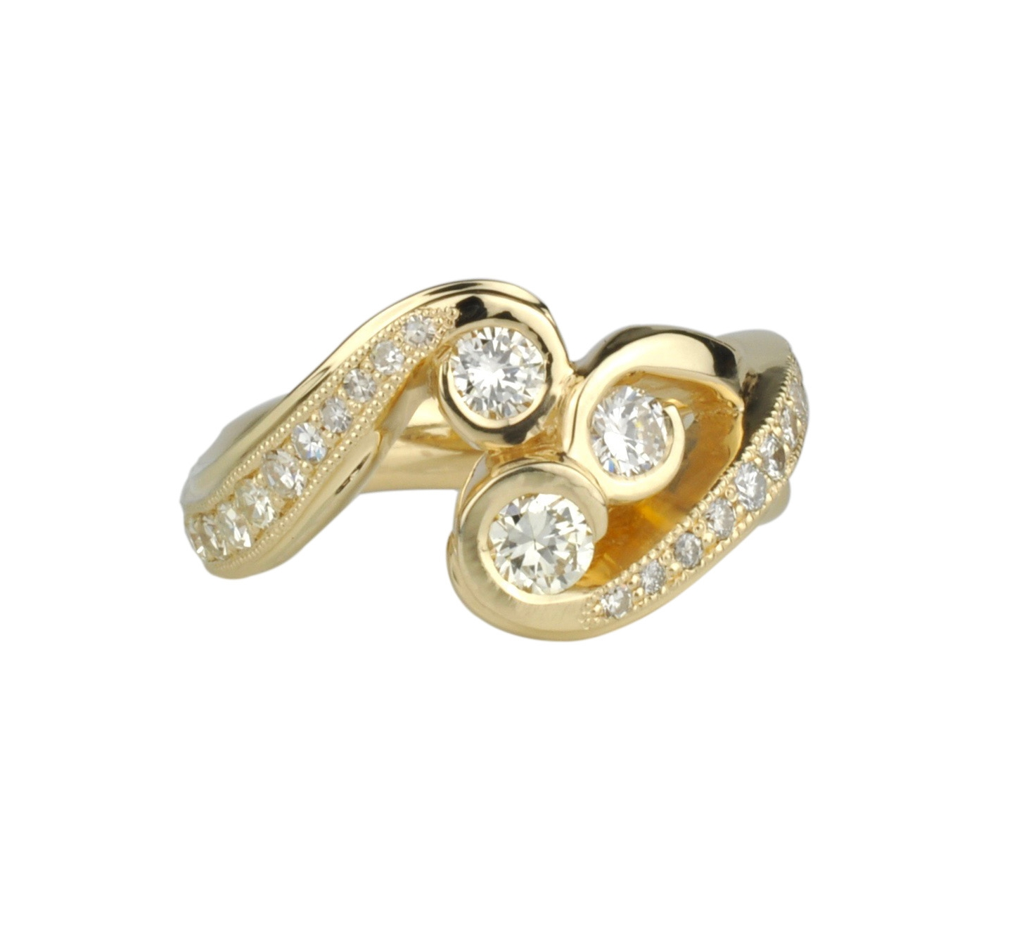 14k Gold Waylon Rhoads Original with Diamonds