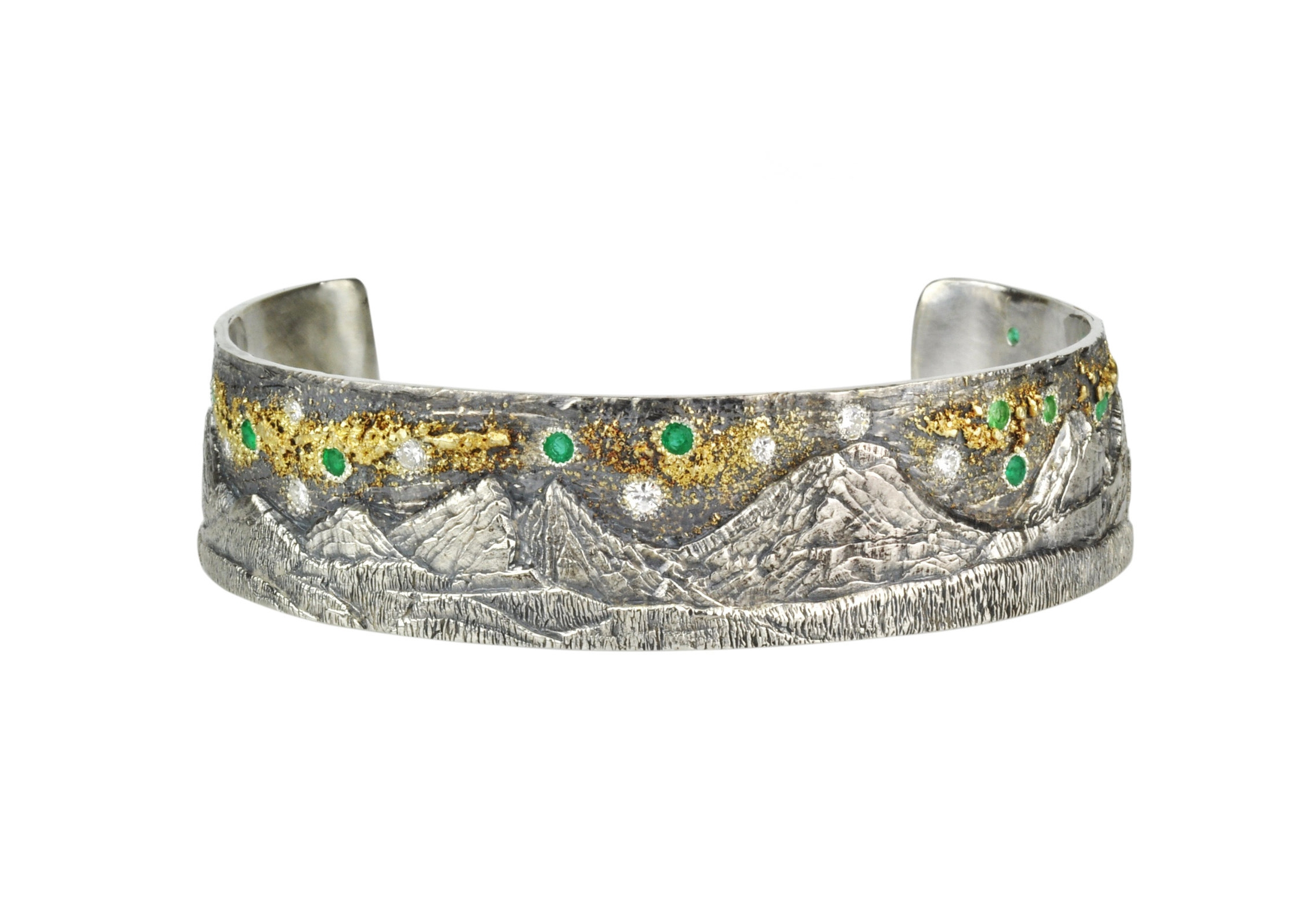 Cascades Mountain Cuff with 18k Gold Fusion
