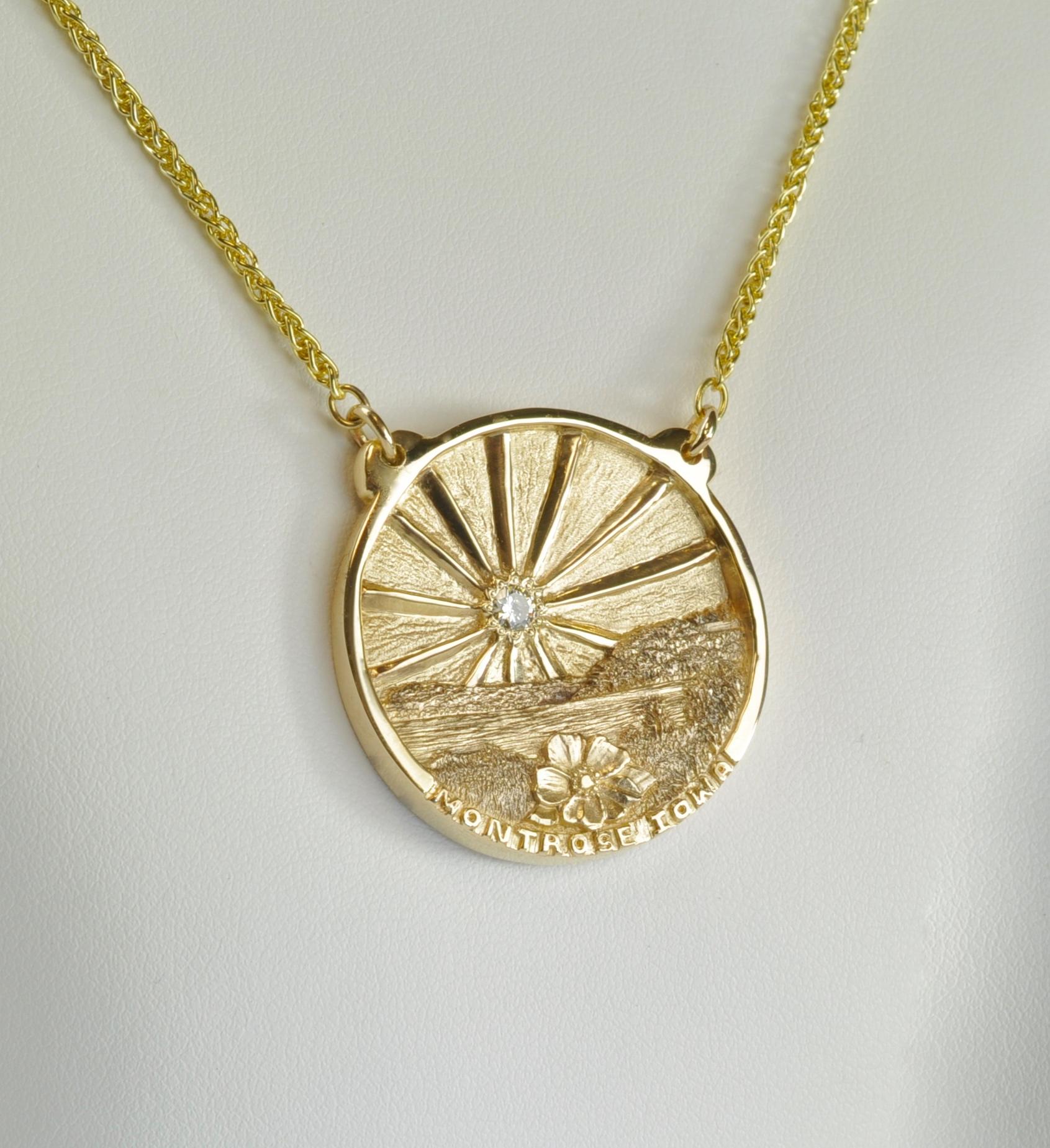 Yellow Gold Montrose Pendant