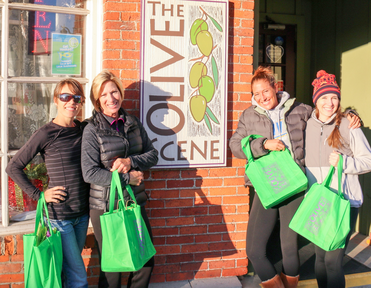 We'd like to give a gift to all of our loyal customers, so stop into any of our 3 locations to receive your free Olive Scene tote bag.