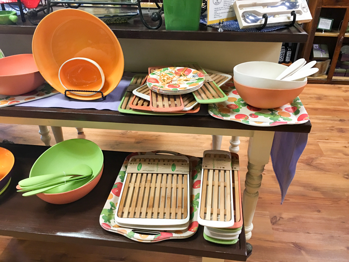 Beautiful, functional, and unbreakable bamboo serving pieces at The Olive Scene.