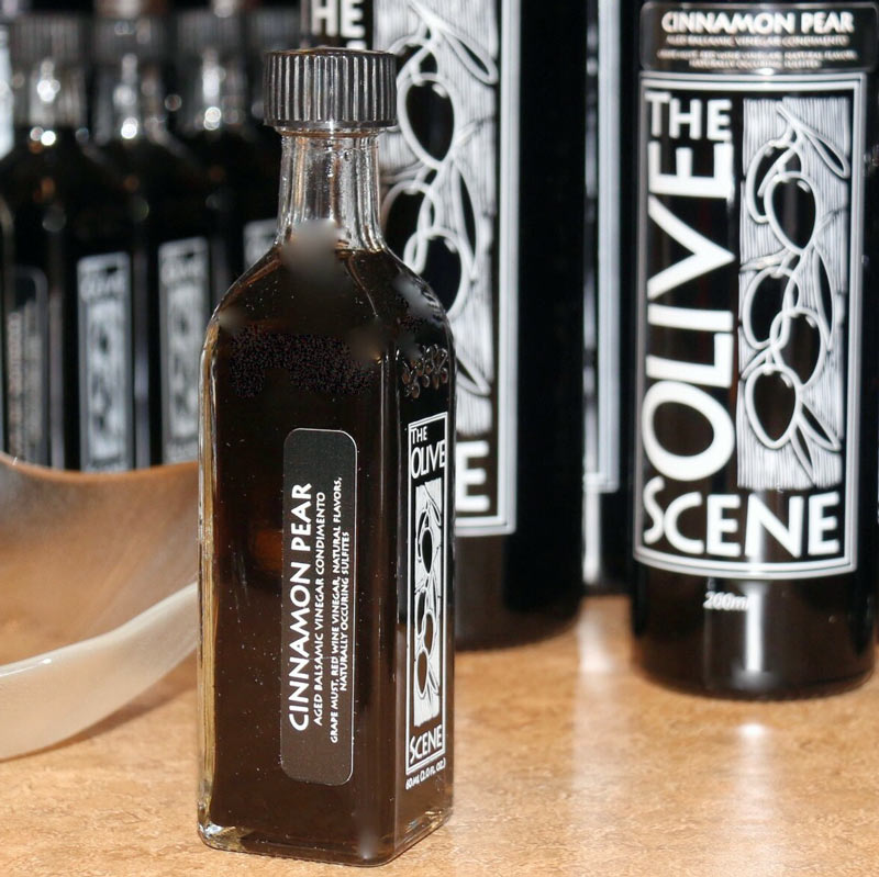 free cinnamon pear balsamic vinegar with purchase