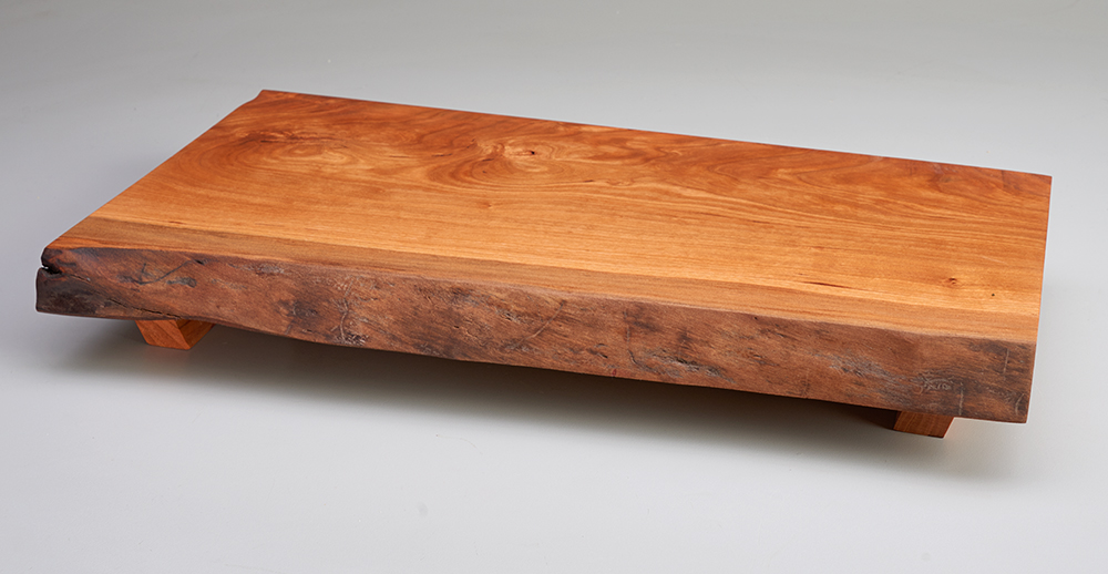 live edge footed cutting board