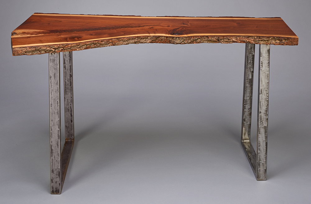 black walnut console table