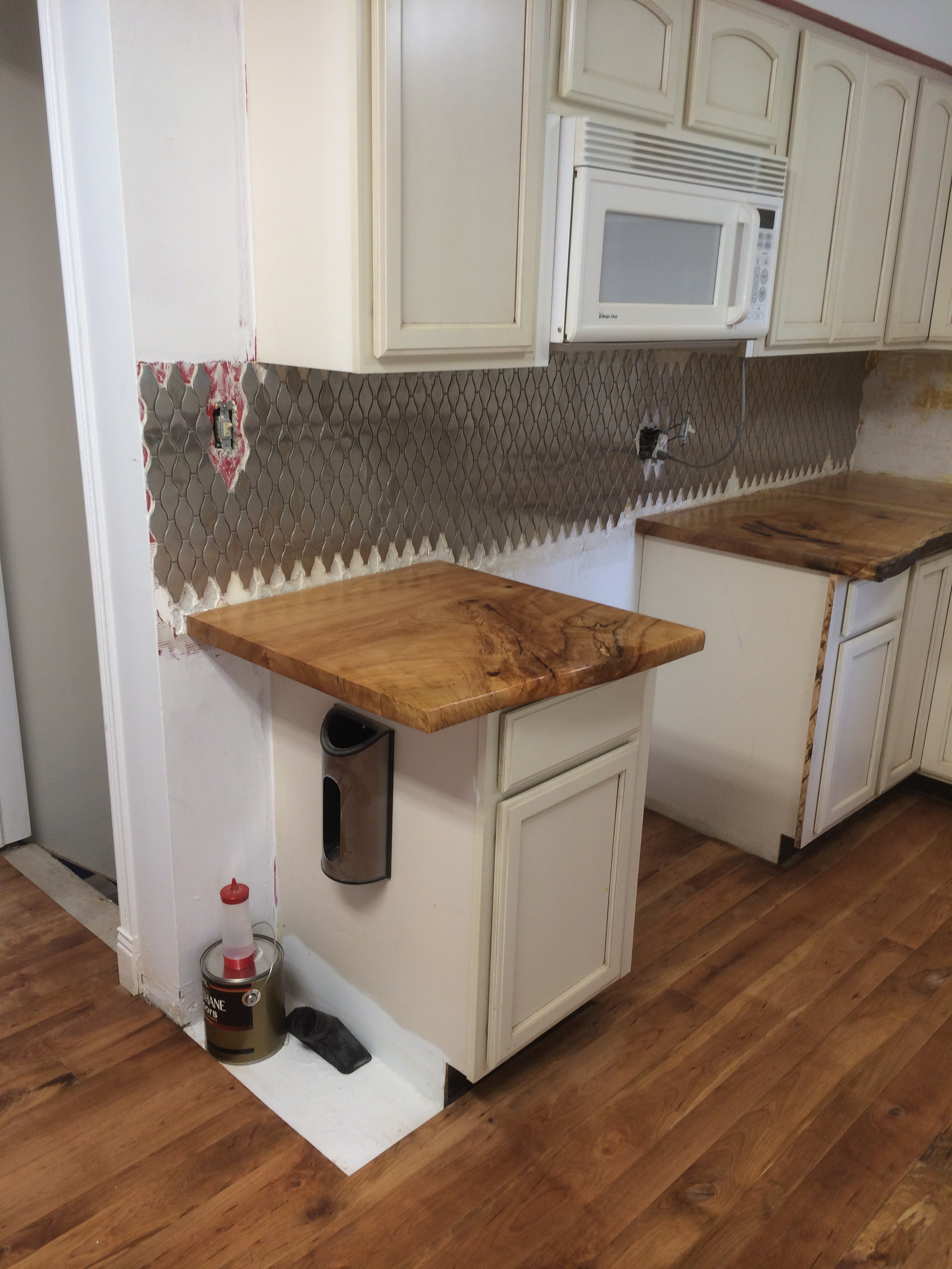 Live edge hard maple kitchen counter top