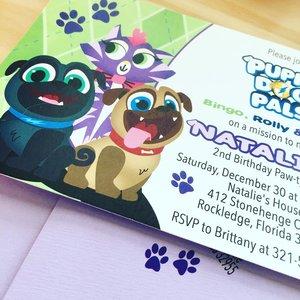 Personalised Puppy Dog Pal Birthday Greeting Card /& Envelope 726