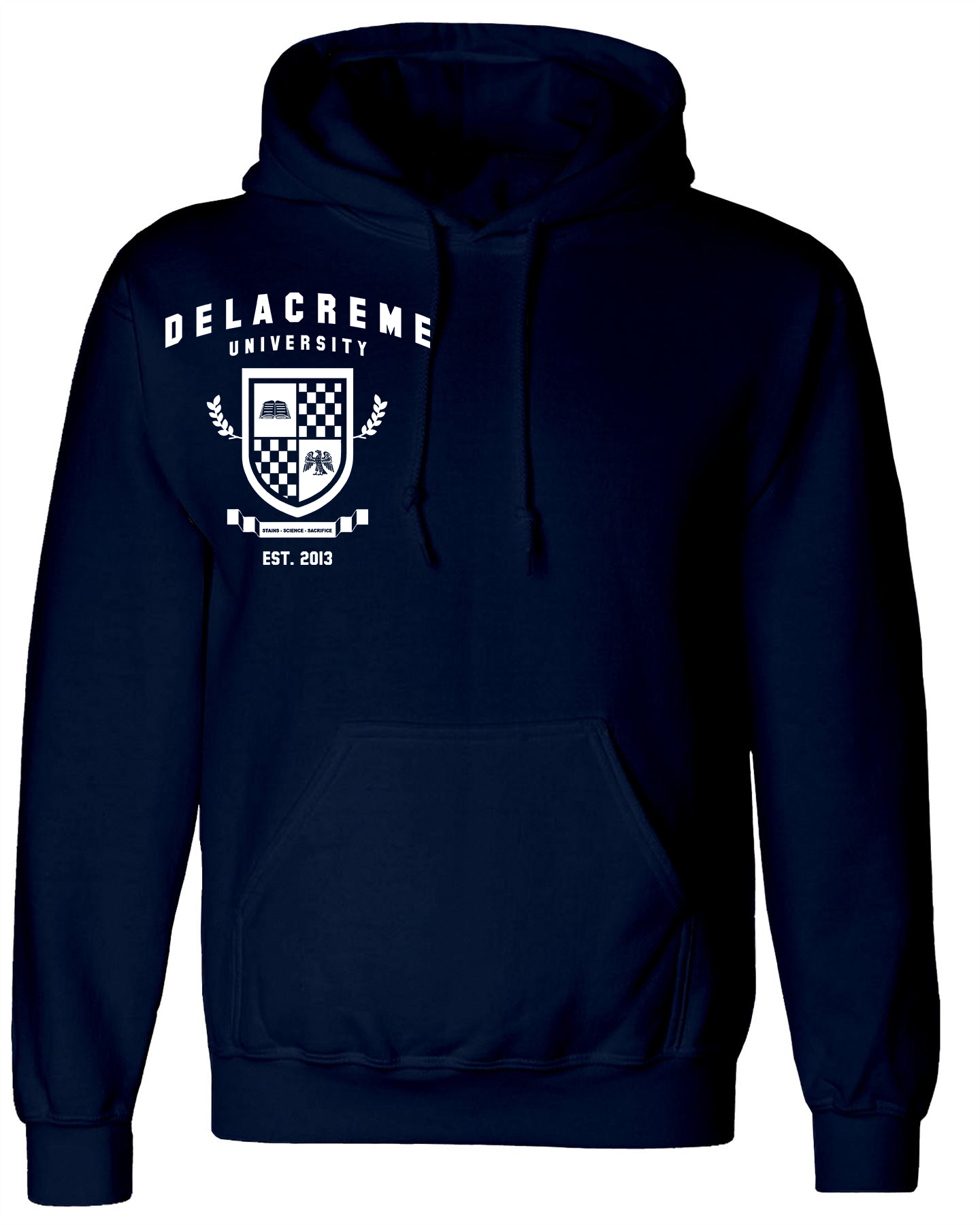 the delacreme hoodie -navy blue