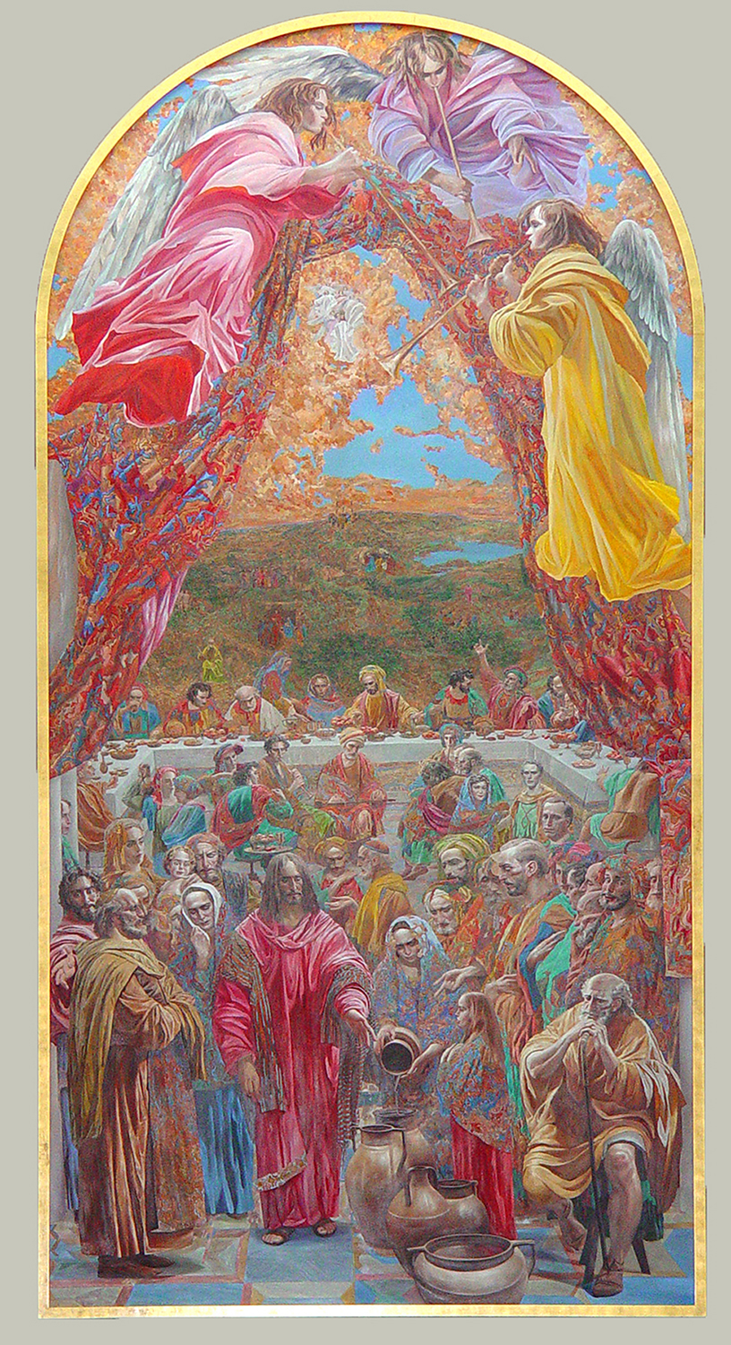 Oil on Linen / 18 ft x 9 ft Collection of the Collegedale Seventh Day Adventist Church, Chattanooga, Tennessee
