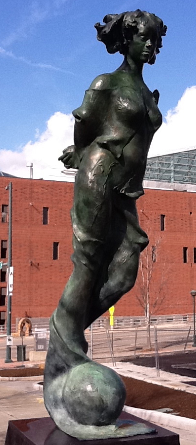 Bronze / 9 ft tall  City of Chattanooga, Public Art Collection