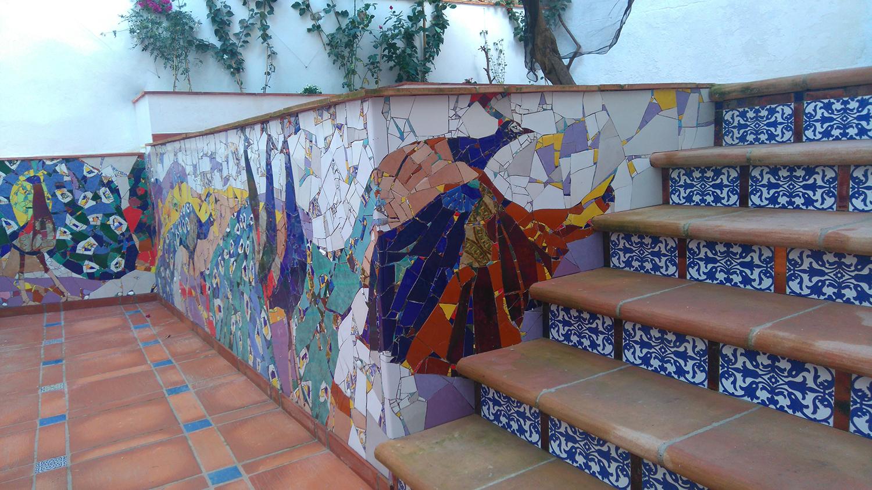 Handmade tiles, antique Triana tiles, commercial tiles, smalti, natural stones