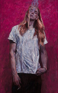 "Timur Akhriev's winning painting, ""Youth"" Oil on Linen"