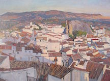 Andalusian Rooftops, Oil on Linen, Best Oil