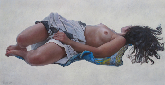 Pastel on toned paper / 23 x 42 inches / on exhibit at the Ming Gallery and Museum, China