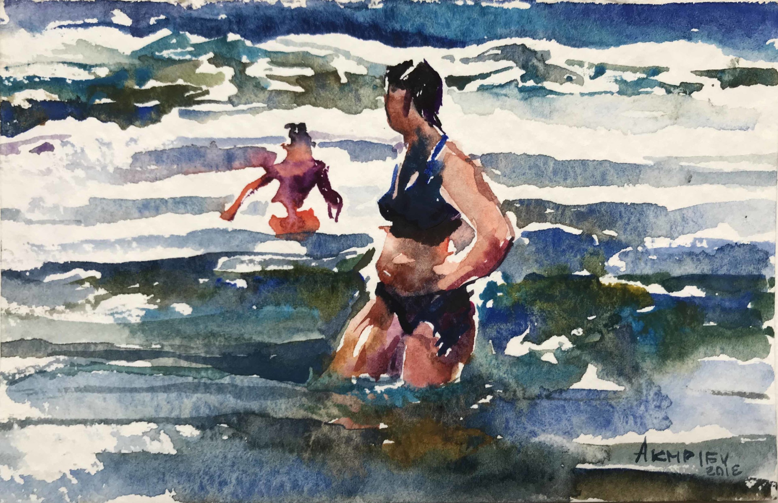 Watercolor on Paper / 4 x 6 inches / Available
