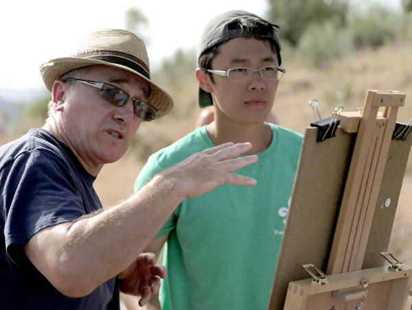 Akhriev in Italy with Yangzhi Chen, a 5th year student at the Repin Academy of Fine Art in St. Petersburg, Russia.