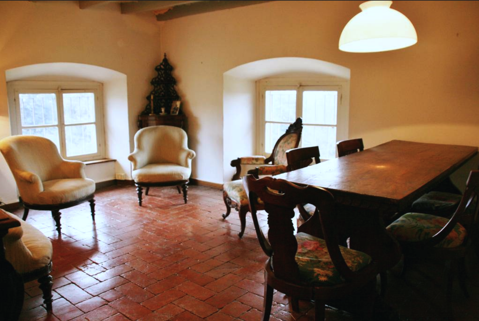 The guest sitting room on the third floor.