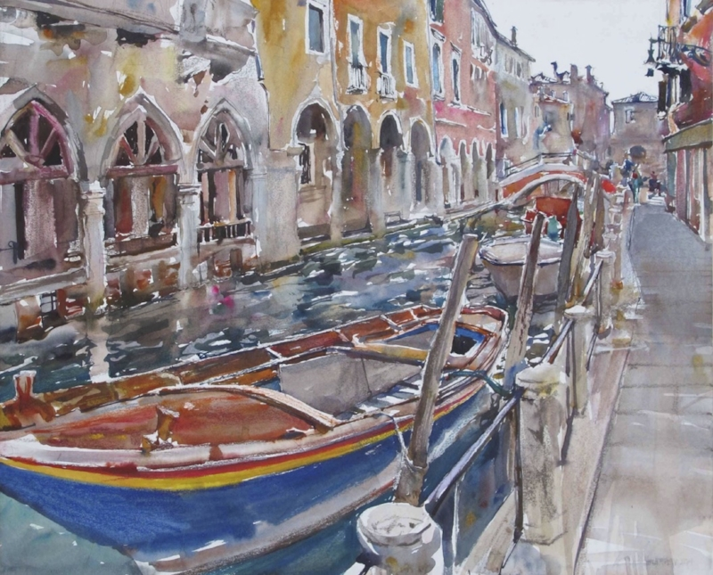 Venetian Collonade, Private Collection