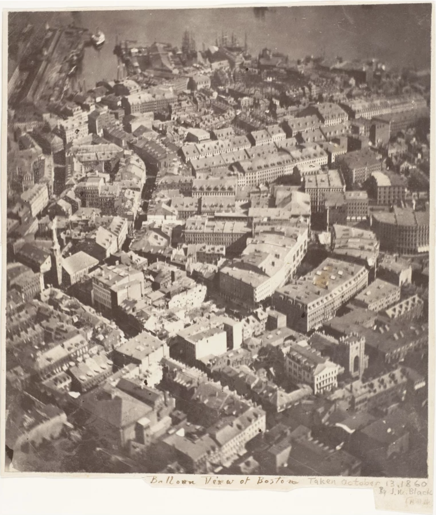 The oldest aerial photograph by Joseph Wallace Black, October 1860