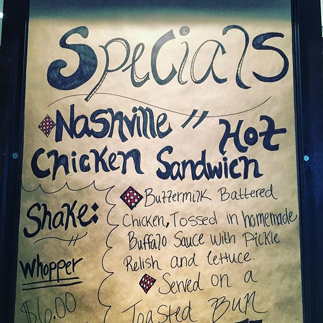 HOT Sandwich! Come and get our new tasty special!! #specials #richardsonfood #eatdallas #eatrichardson #nashvillehotchicken #dinecityline