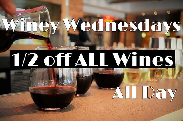 You made it! It's half way through the week and we've got half off ALL glasses of wine for you! All day! All night!  What a great way to celebrate!  #dinecityline #trickyfish #winedown #winey #winewednesday #wineywednesday #halfoff #dallasfoodie #richardson #drinkdallas #eatrichardson #richardsonliving