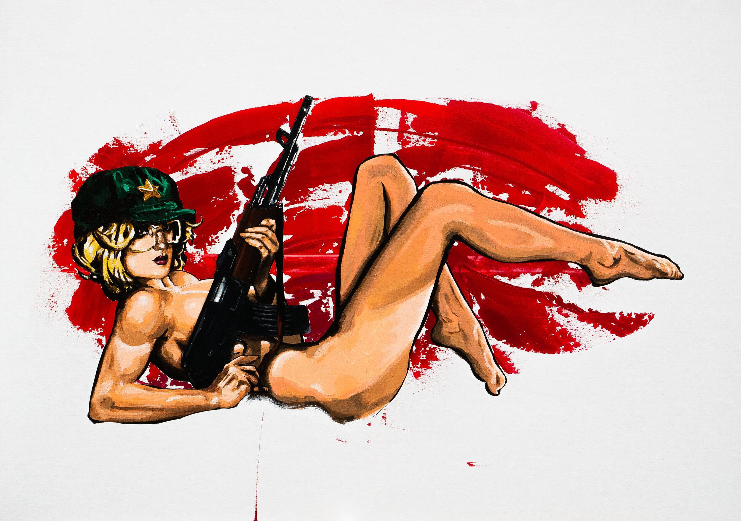 Flör   Acryl on 80 w x 140 h cm canvas  2019, Budapest  360.000 HUF / 1100 EUR
