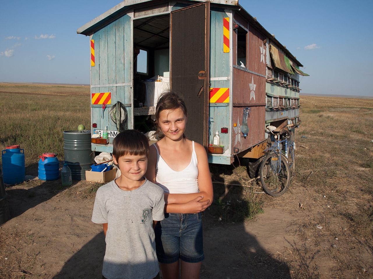 Migratory beekeepers, Dobruja, Romania