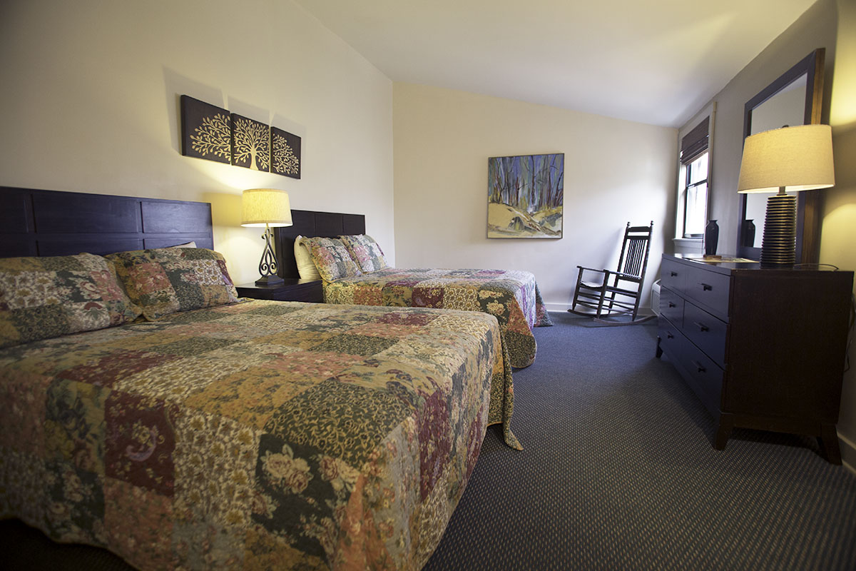 Hotel-style, double occupancy room for single or shared use