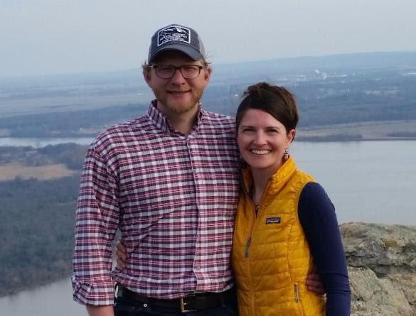 The Alabama Folk School's new Director, Lisa Marie Ryder, with her husband, James Ryder.