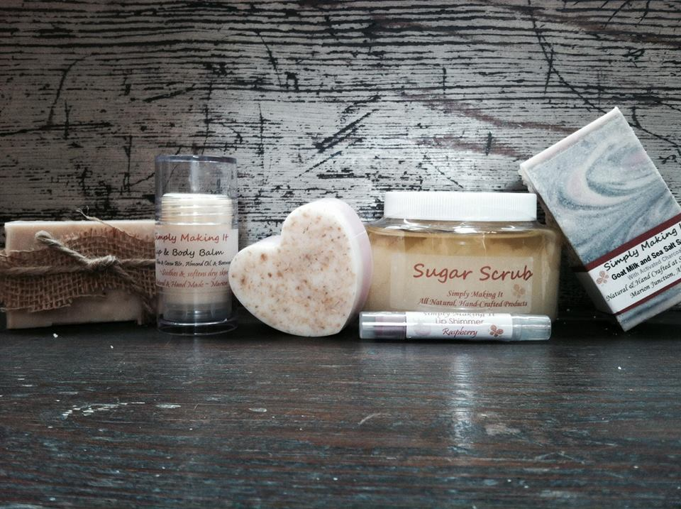 Homemade soap, sugar scrub, and lip balm are just of few of the natural skincare products students will make in Laura Spencer's, November 3-6, 2016 class.