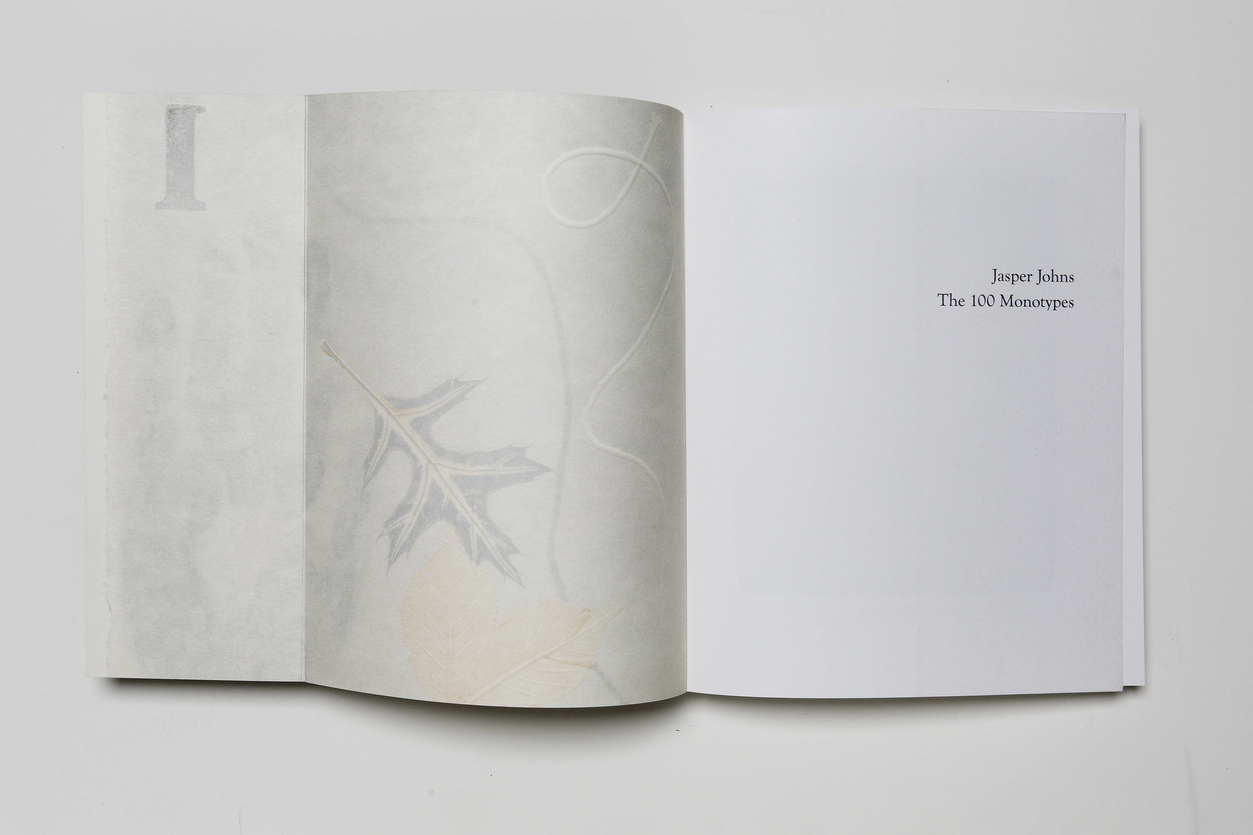 Jasper Johns: The 100 Monotypes, Softcover, front interior flap