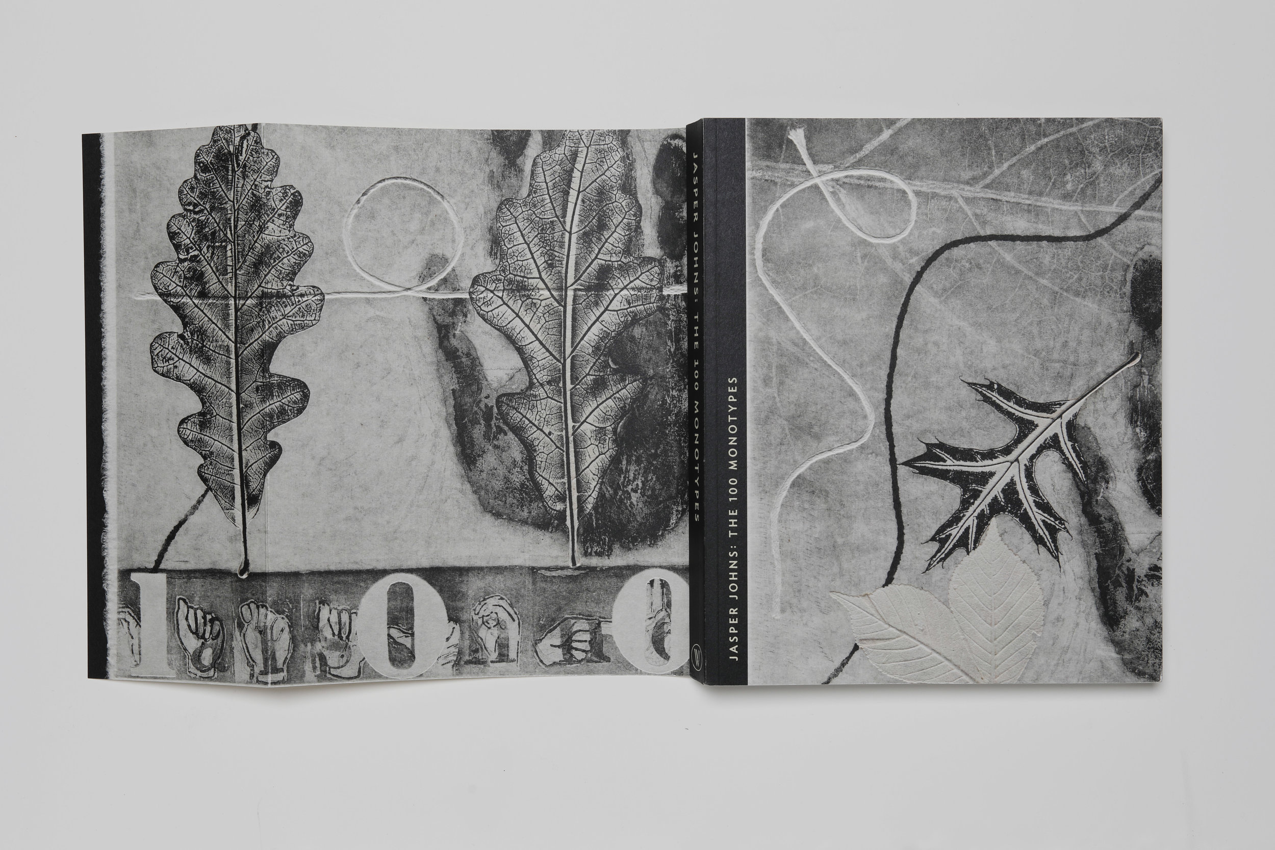 Jasper Johns: The 100 Monotypes, Softcover, back flap