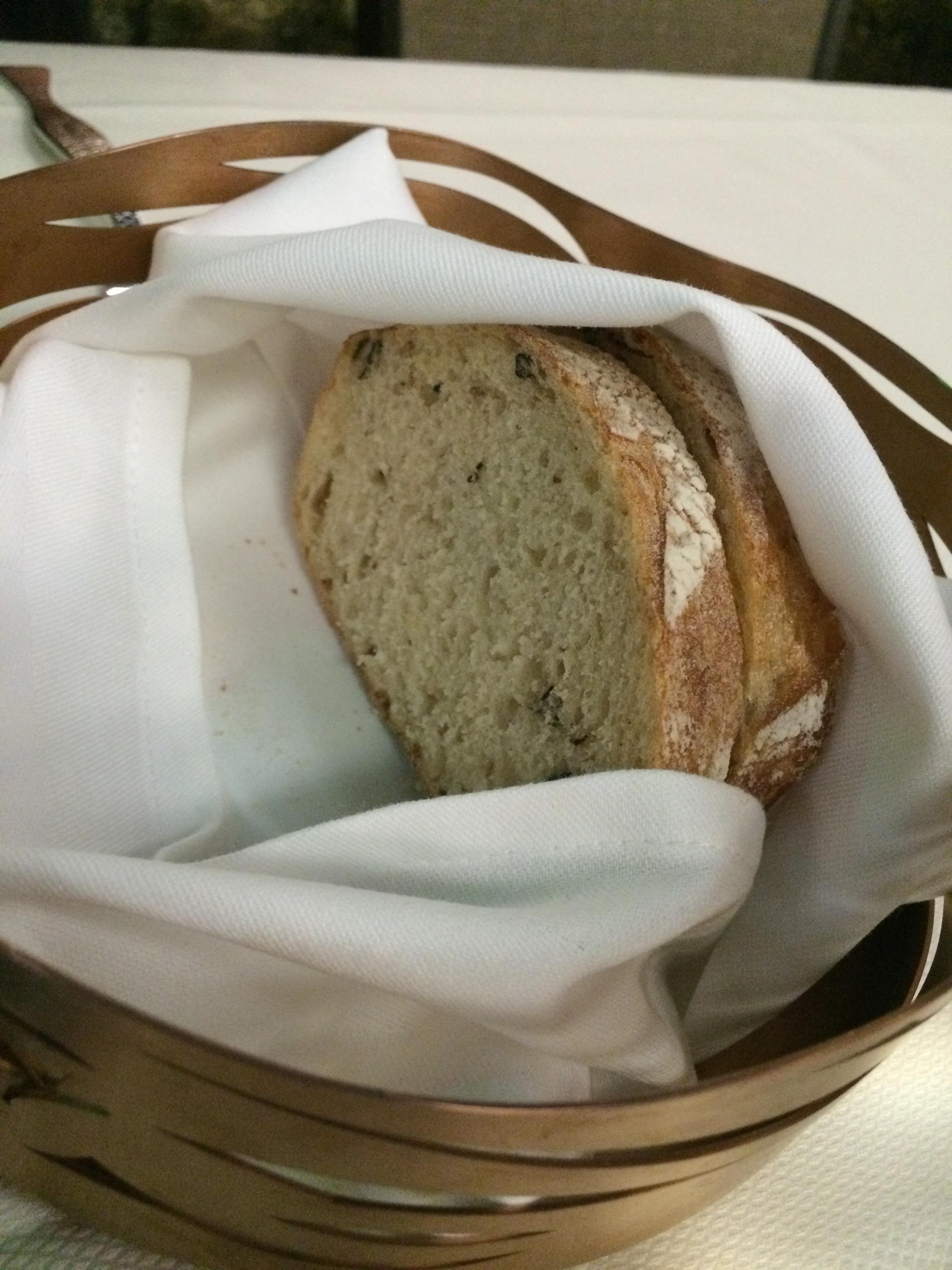Seaweed-flecked bread!