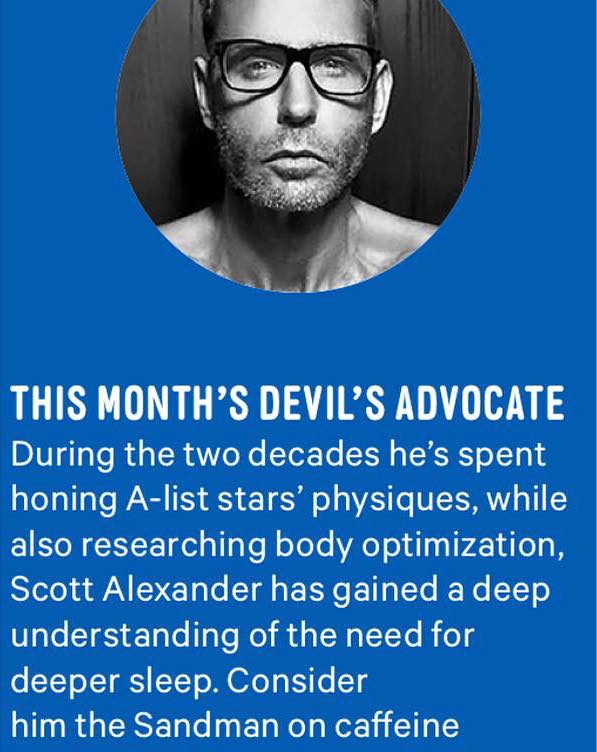 "Scott Alexander is a featured  ""fitness expert"" in Mens Health."