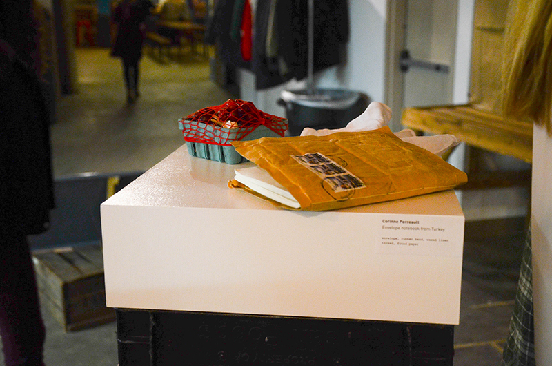 'Food for Thought, Pint for Fruit' and 'Envelope Notebook from Turkey' by Corinne Perreault