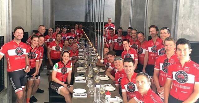 Full TRT team enjoying the Duck Lunch!