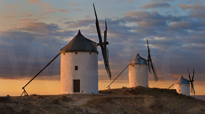 Windmills of La Mancha by Audrey Price - 3rd