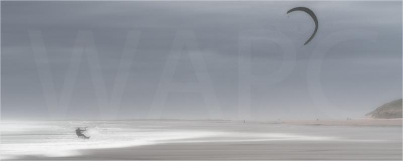 Northumberland kite surfing