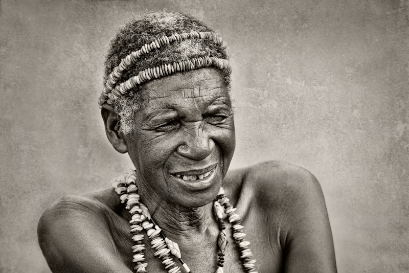 Mafwe elder by Audrey Price