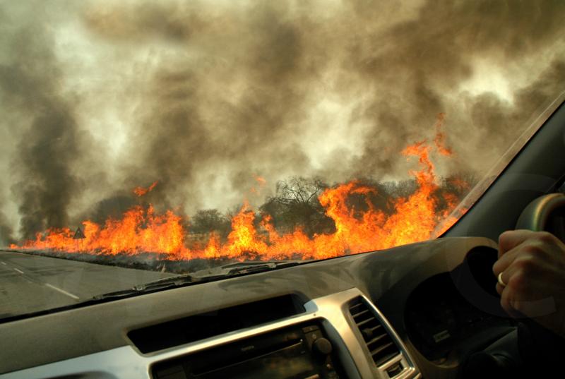 Bush Fire Drive Through