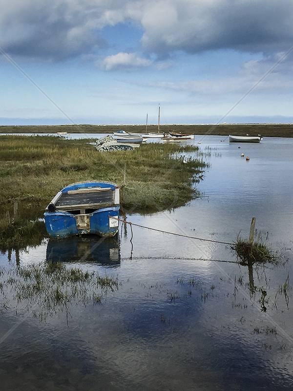 Blakeney Boats by Reg Mathews - C