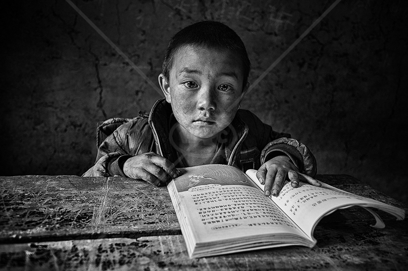 "PSA Gold medal Best Portrait (mono) - ""Child on Daliang Mountain 13"" by Hong Li MIUP"
